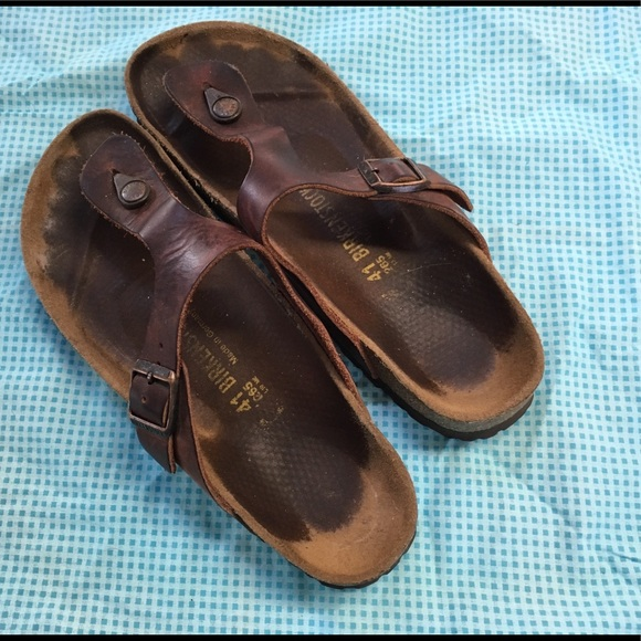 47da7356956 Birkenstock Shoes - Birkenstock Gizeh Habana Oiled Leather - Size 41N
